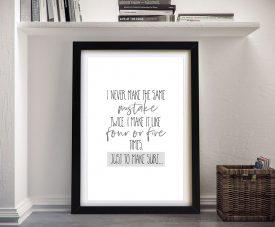 Framed Fun Typographic Digital Art on Canvas