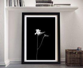 Freesia Monochrome Elegant Floral Artwork