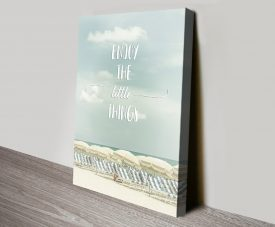 Enjoy the Little Things - Beachscape Wall Art