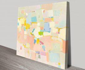 Block Party Pastel Tones Abstract Art
