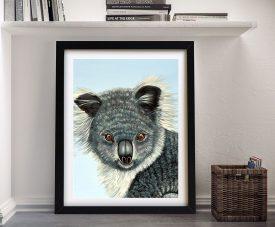Cuddly Koala Framed Print on Canvas