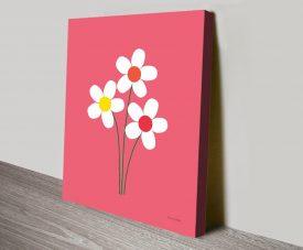 Daisies 1 Floral Art Print by Ann Kelle