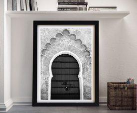 Buy a Moroccan Door Monochrome Print
