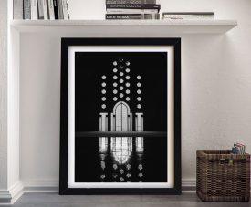 Buy a Framed Black & White Moroccan Door Print
