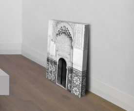 Black & White Moroccan Doorway Wall Art