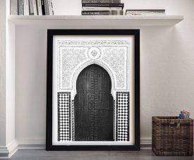 Moroccan Door 6 Framed Monochrome Art
