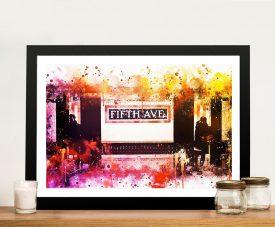 Buy a Framed Fifth Avenue Station Art Print