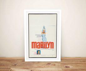 Marilyn Vintage Framed Canvas Film Poster