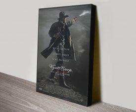 Wyatt Earp Quality Movie Poster on Canvas