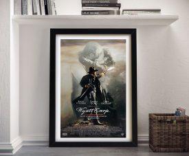 Wyatt Earp Framed Canvas Movie Poster